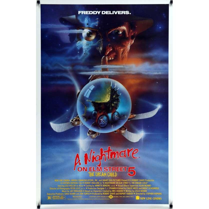 NIGHTMARE ON ELM STREET 5 US Movie Poster 29x41 - 1989 - Stephen Hopkins, Robert Englund