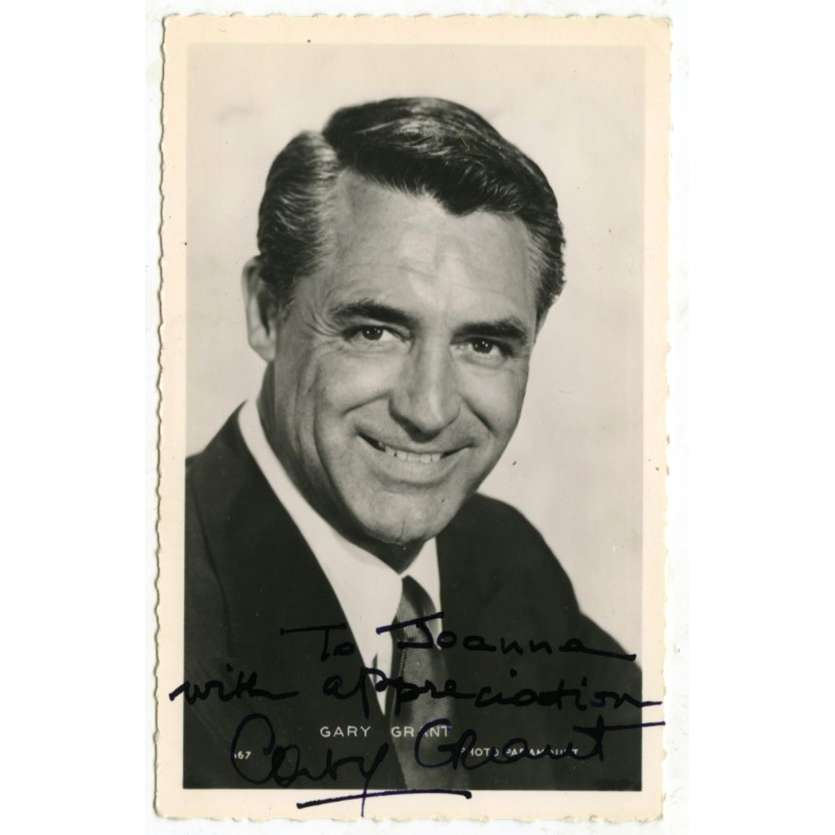 CARY GRANT Signed Postcard 3,5x5,5 in. - 1960's