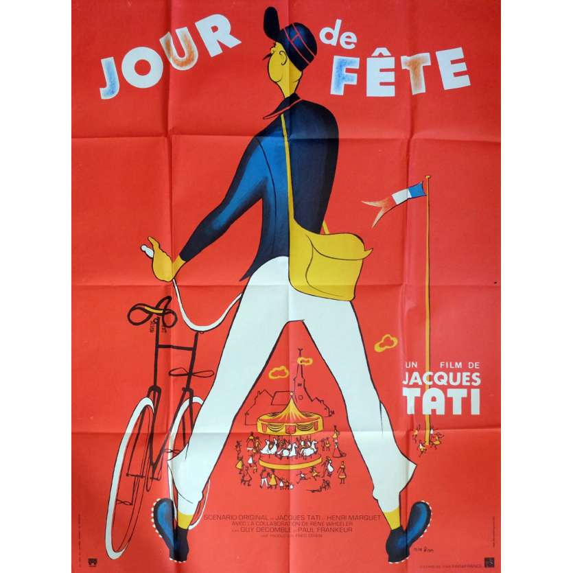 JOUR DE FETE French Movie Poster 47x63 R73 Jaques Tati
