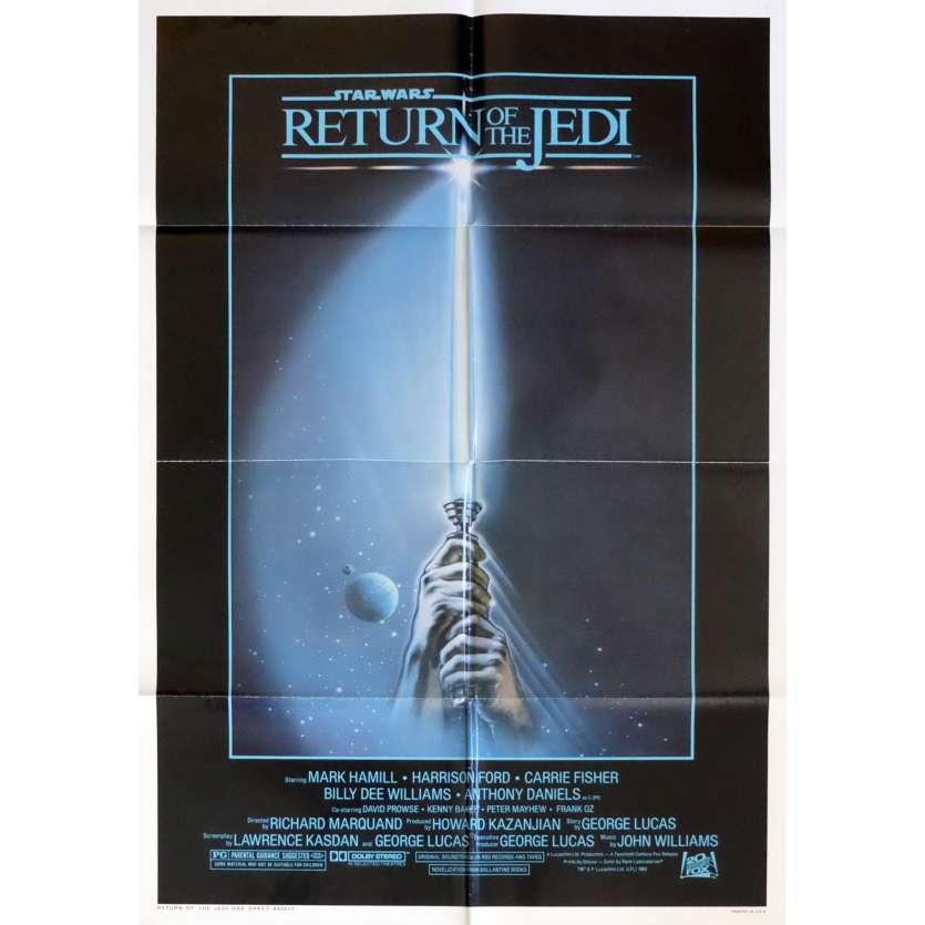 STAR WARS - LE RETOUR DU JEDI Affiche de film Lightsaber 69x104 - 1983 - Harrison Ford, Richard Marquand