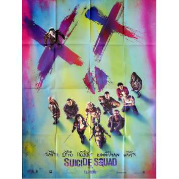 SUICIDE SQUAD Affiche de film Adv. 120x160 cm - 2016 - Margot Robbie, David Ayer