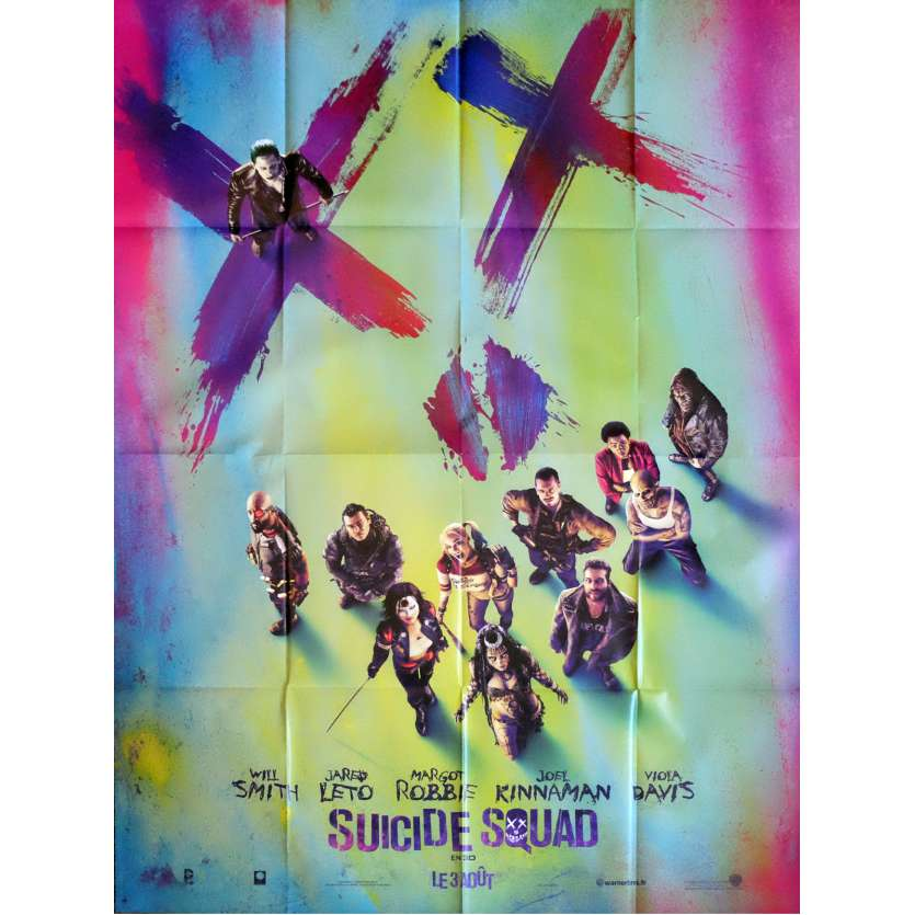 SUICIDE SQUAD Movie Poster Adv. 47x63 in. - 2016 - David Ayer, Margot Robbie
