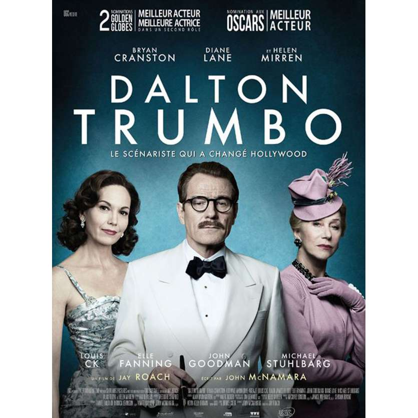 DALTON TRUMBO Movie Poster 15x21 in. - 2016 - Jay Roach, Bryan Cranston