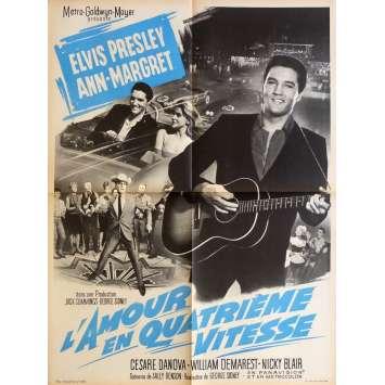 L'AMOUR EN QUATRIEME VITESSE Affiche de film 60x80 cm - 1964 - Elvis Presley, George Sidney
