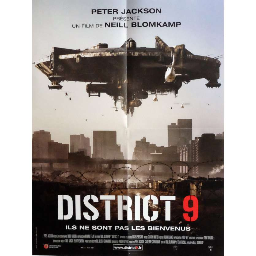 DISTRICT 9 Movie Poster 15x21 in. - 2009 - Neill Blomkamp, Sharlto Copley