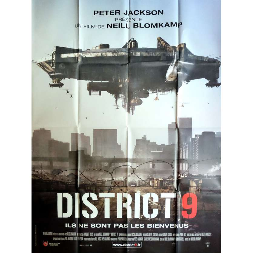 DISTRICT 9 Movie Poster 47x63 in. - 2009 - Neill Blomkamp, Sharlto Copley