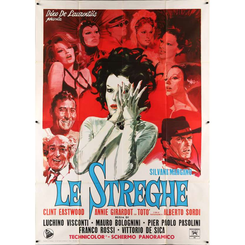 THE WITCHES Movie Poster 55x70 in. - 1967 - Pier Paolo Pasolini, Silvana Mangano