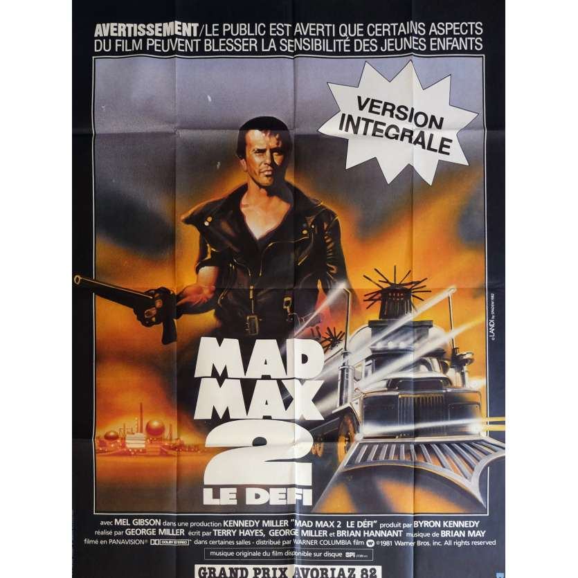MAD MAX 2 French Movie Poster 47x63 '82 Mel Gibson