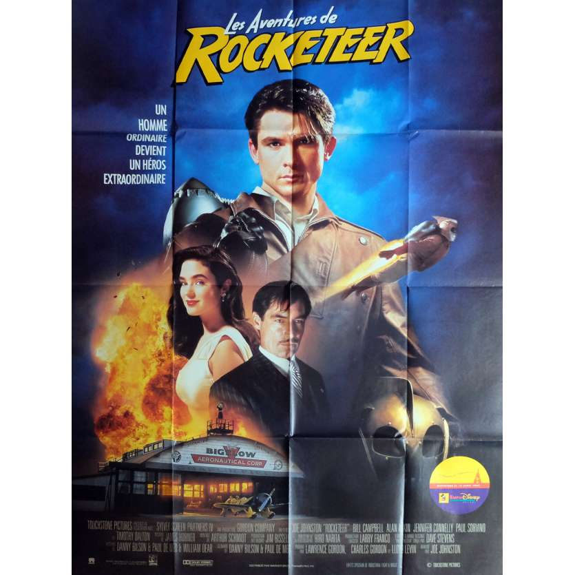 ROCKETEER French Movie Poster 47x63 '91 Jennifer Connelly