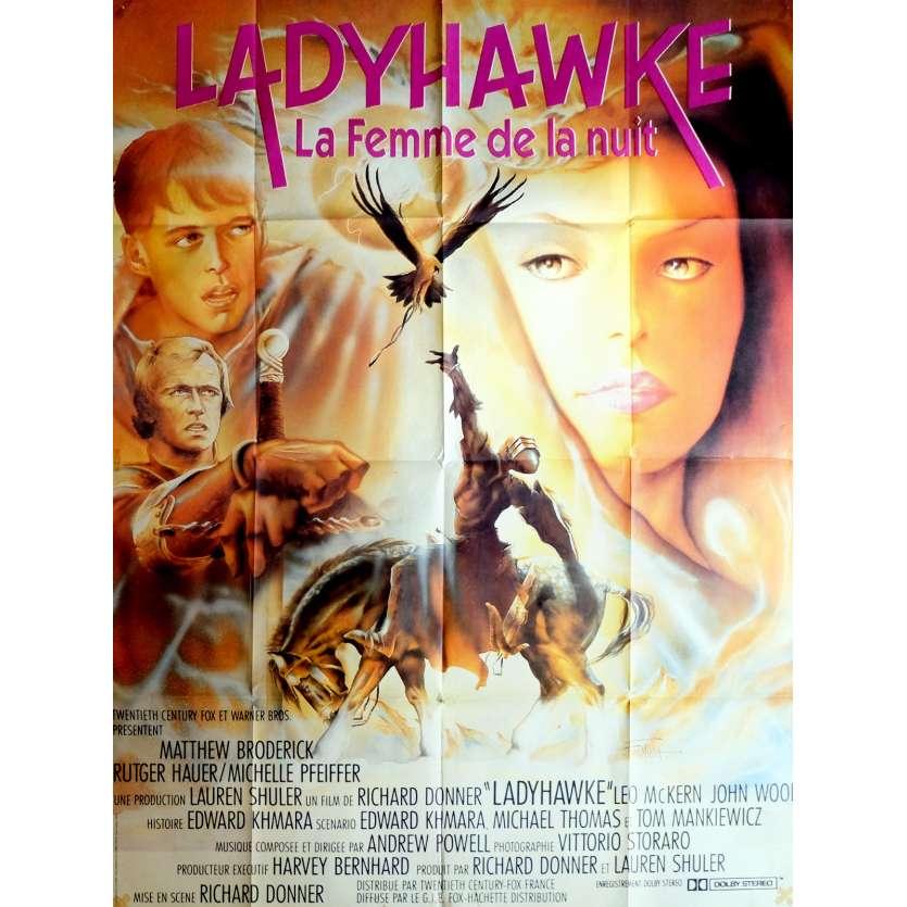 LADYHAWKE Affiche de film 120x160 cm - 1985 - Michelle Pfeiffer, Richard Donner