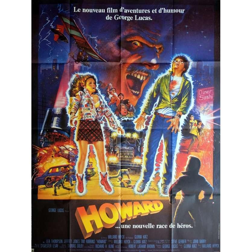 HOWARD Affiche de film 120x160 cm - 1986 - Tim Robbins, George Lucas