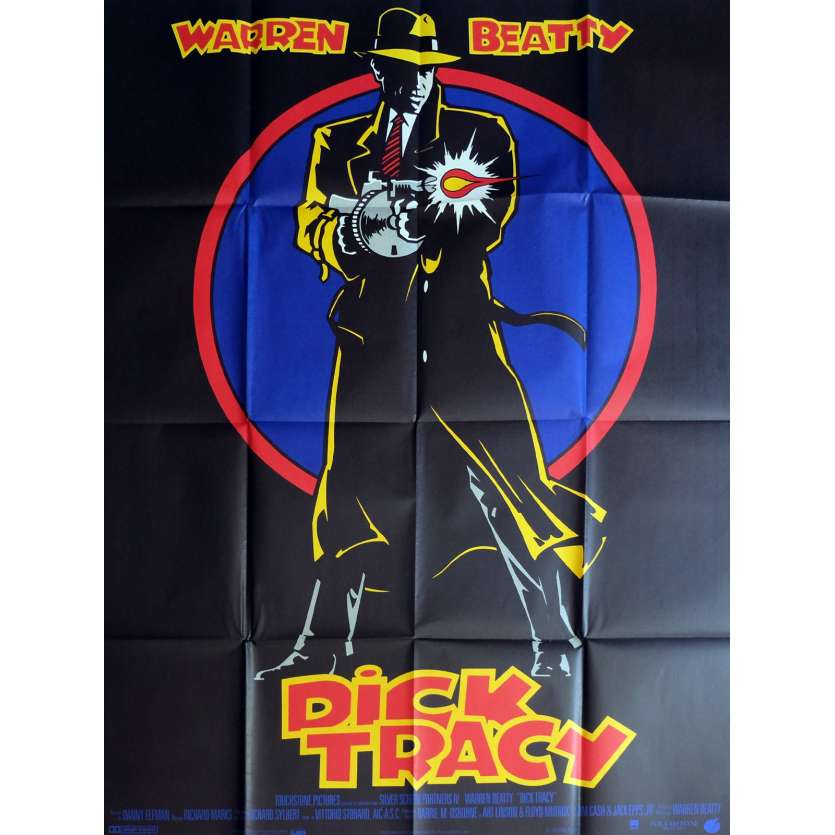 DICK TRACY Movie Poster 47x63 in. - 1990 - Warren Beatty, Al Pacino