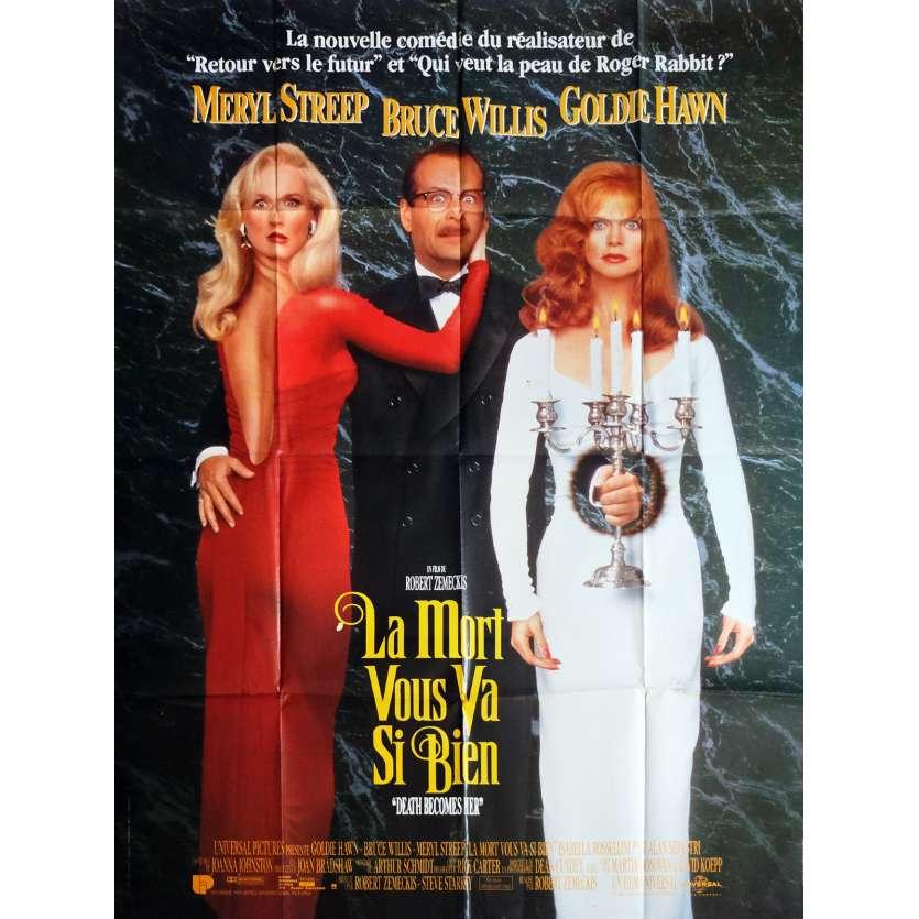 LA MORT VOUS VA SI BIEN Affiche de film 120x160 cm - 1992 - Bruce Willis, Robert Zemeckis