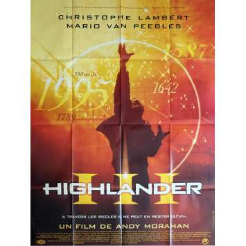 HIGHLANDER III Movie Poster 47x63 in. - 1994 - Andrew Morahan, Christophe Lambert