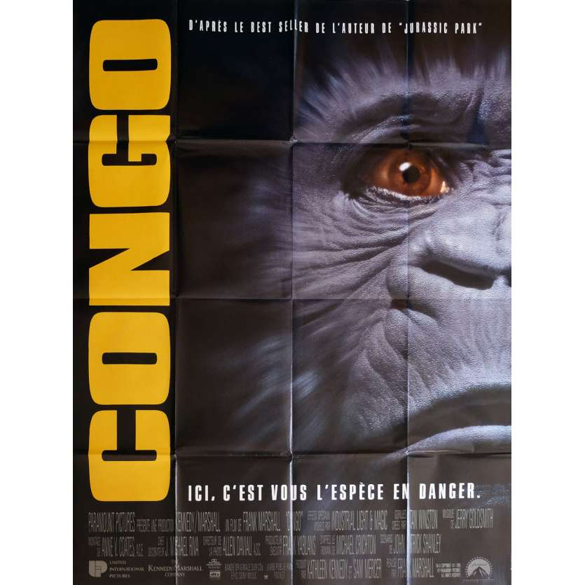 CONGO Movie Poster 47x63 in. - 1995 - Frank Marshall, Tim Curry