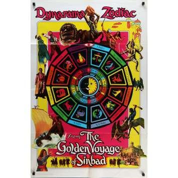 7th VOYAGE OF SINBAD Movie Poster 29x41 in. - 1975 - Ray Harryhausen, Kervin Mathews