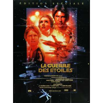 STAR WARS - A NEW HOPE Movie Poster 47x63 in. - R1997 - George Lucas, Harrison Ford