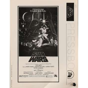 STAR WARS - A NEW HOPE Pressbook 8x10 in. - 1976 - George Lucas, Harrison Ford