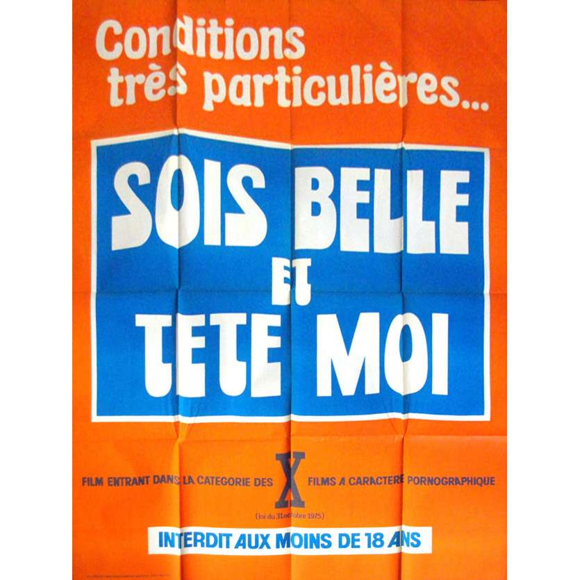 SOIS BELLE ET TETE MOI French Movie Poster 47x63 '77 Roger Rouille, X-rated, sexy Poster