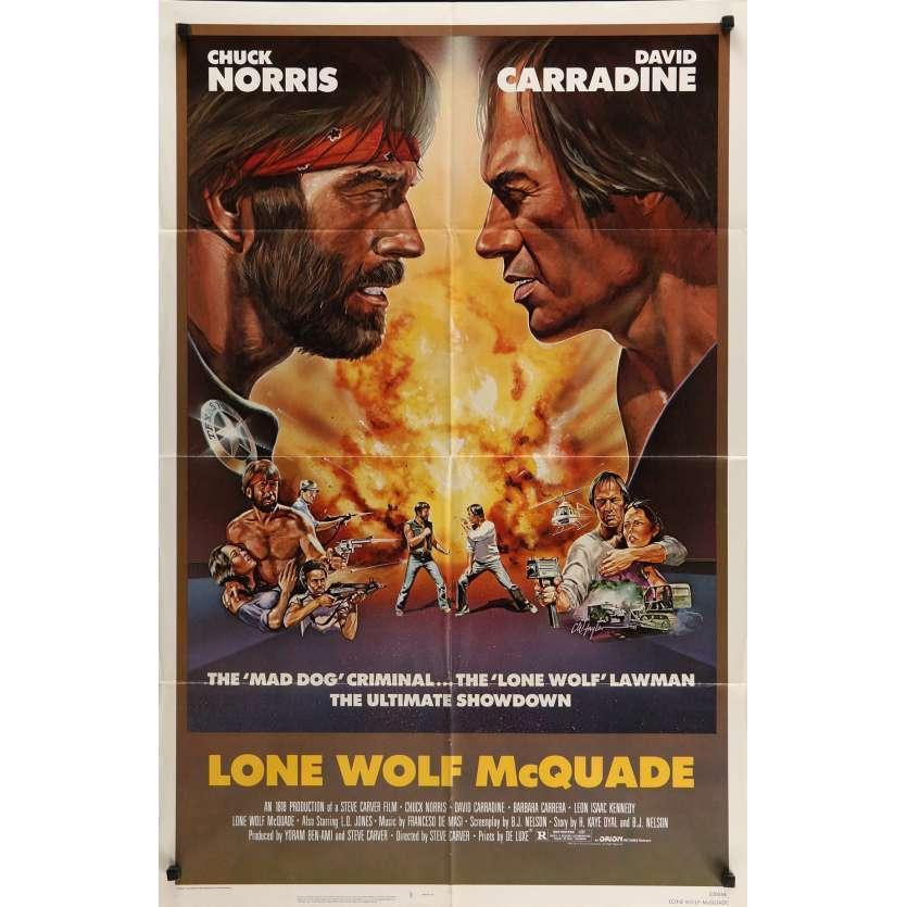 LONE WOLF MCQUADE Movie Poster 29x41 in. - 1983 - David Carradine, Chuck Norris