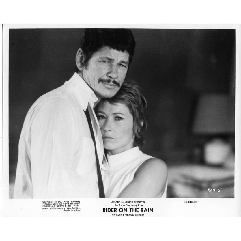 RIDER ON THE RAIN Movie Stills 8x10 in. - 1970 - René Clément, Charles Bronson