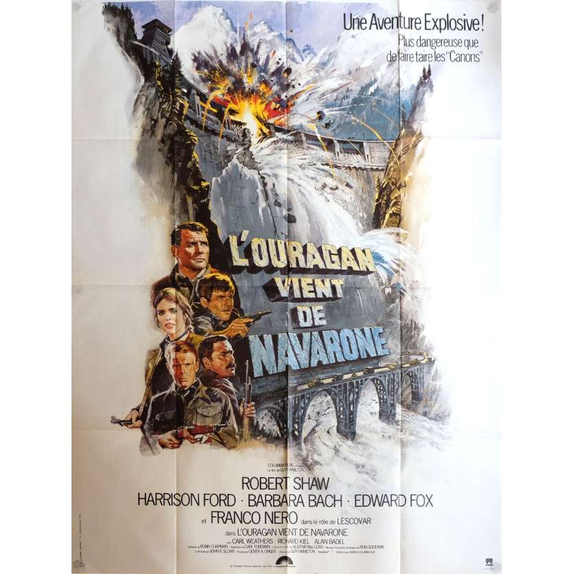 FORCE 10 FROM NAVARONE Movie Poster 47x63 in. - 1978 - Guy Hamilton, Harrison Ford