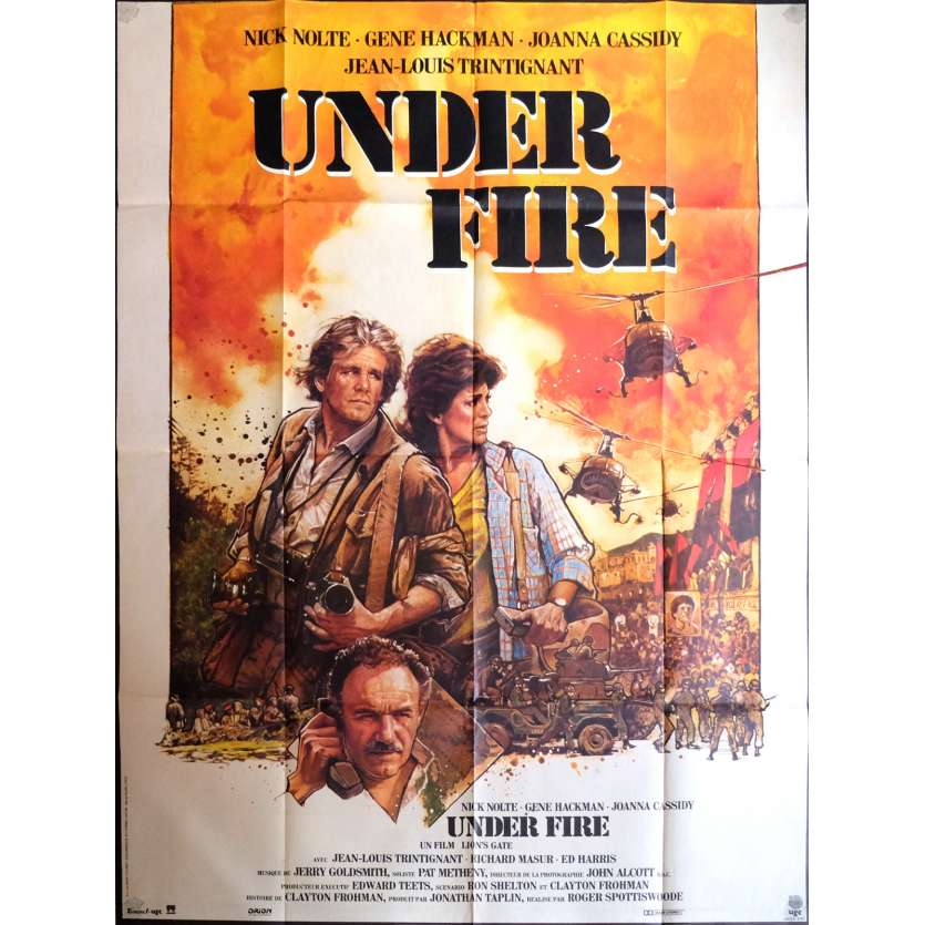 UNDER FIRE Affiche de film 120x160 cm - 1983 - Nick Nolte, Roger Spottiswoode