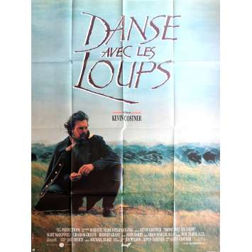 DANCE WITH WOLVES Movie Poster 47x63 in. - 1990 - Kevin Costner, Mary McDonnell
