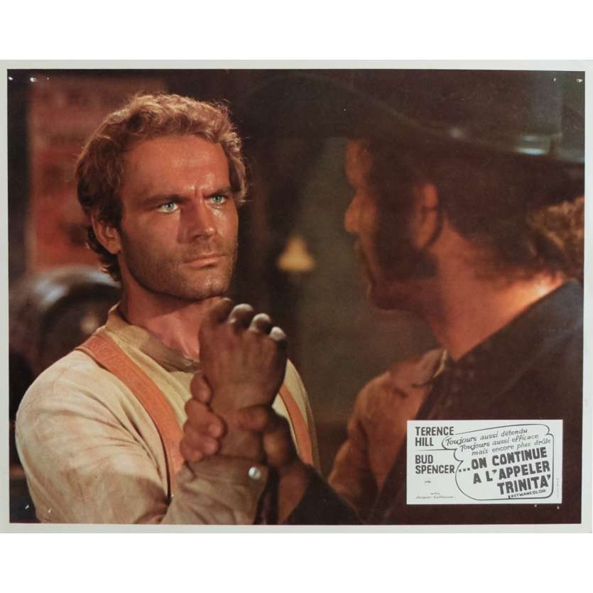 TRINITY IS STILL MY NAME Lobby Card 9x12 in. - 1971 - Enzo Barboni, Terence Hill, Bud Spencer