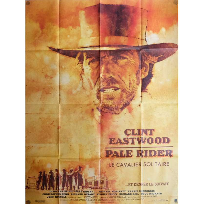 PALE RIDER Movie Poster 47x63 in. French - 1985 - Clint Eastwood,