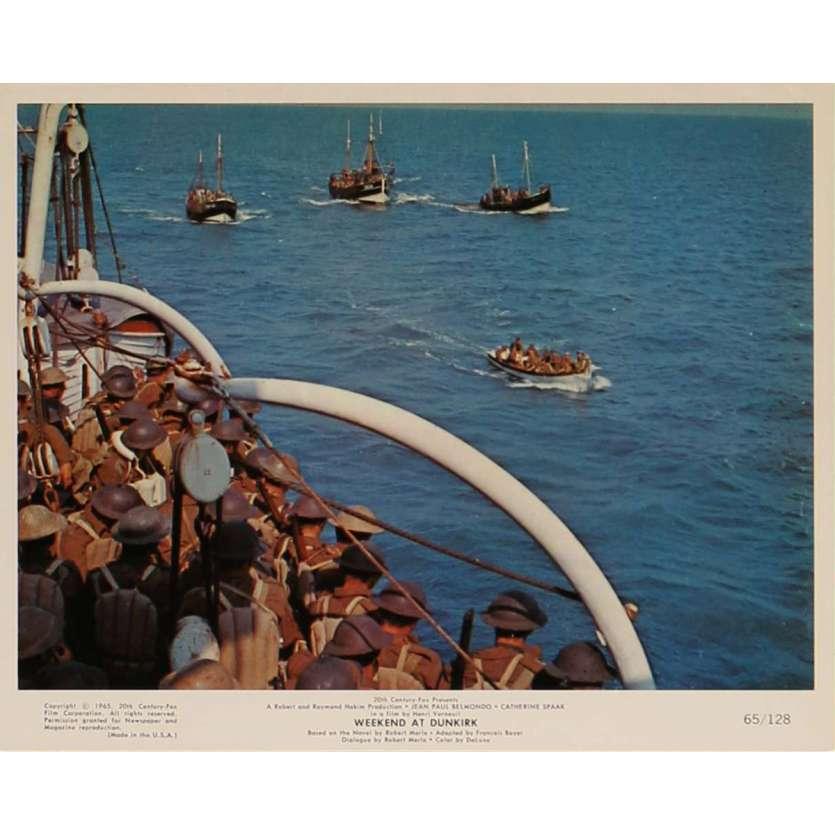 WEEKEND AT DUNKIRK Lobby Card N6 8x10 in. - 1964 - Henri Verneuil, Jean-Paul Belmondo