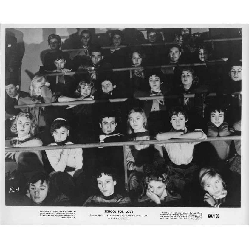 SCHOOL FOR LOVE Movie Still 8x10 in. - 1955 - Marc Allégret, Brigitte Bardot