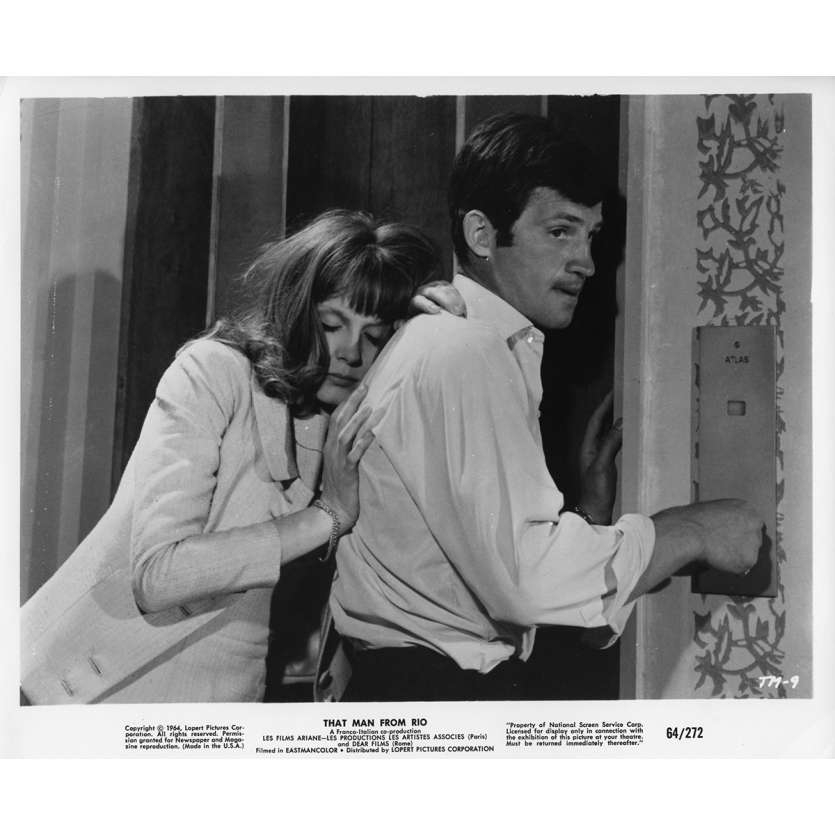 L'HOMME DE RIO Photo de film N2 20x25 cm - 1964 - Jean-Paul Belmondo, Philippe de Broca