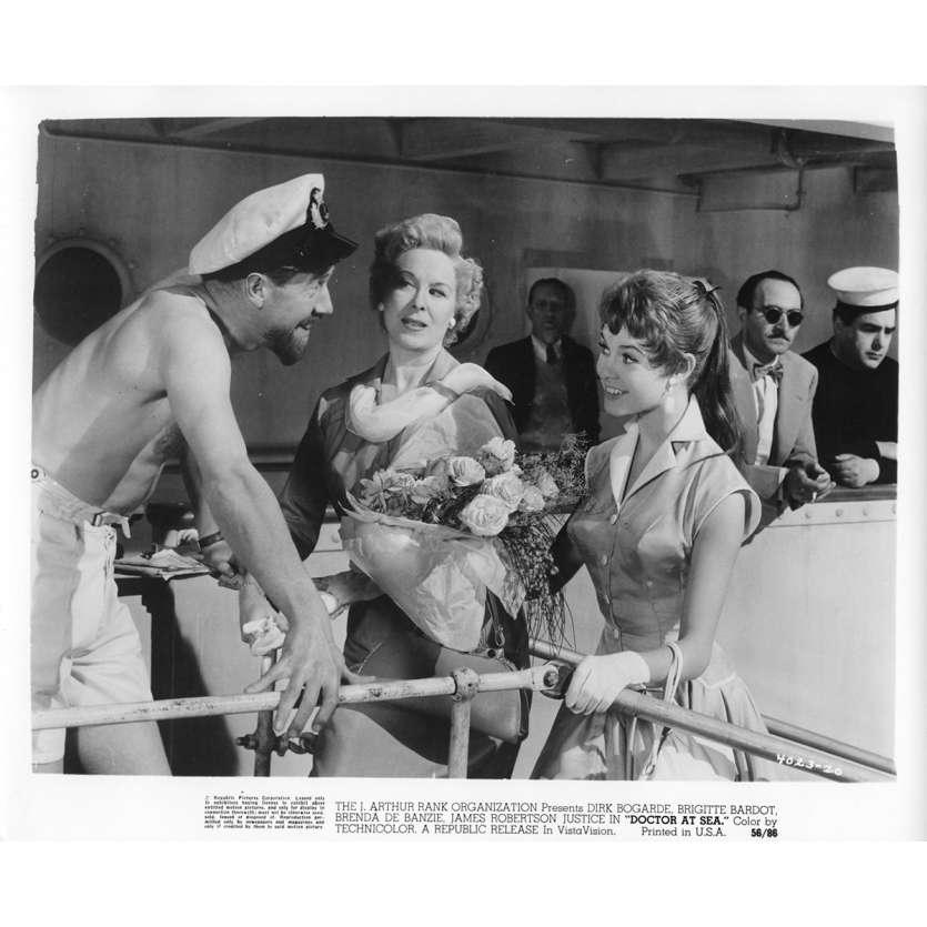 DOCTOR AT SEA Movie Still N2 8x10 in. - 1955 - Ralph Thomas, Brigitte Bardot