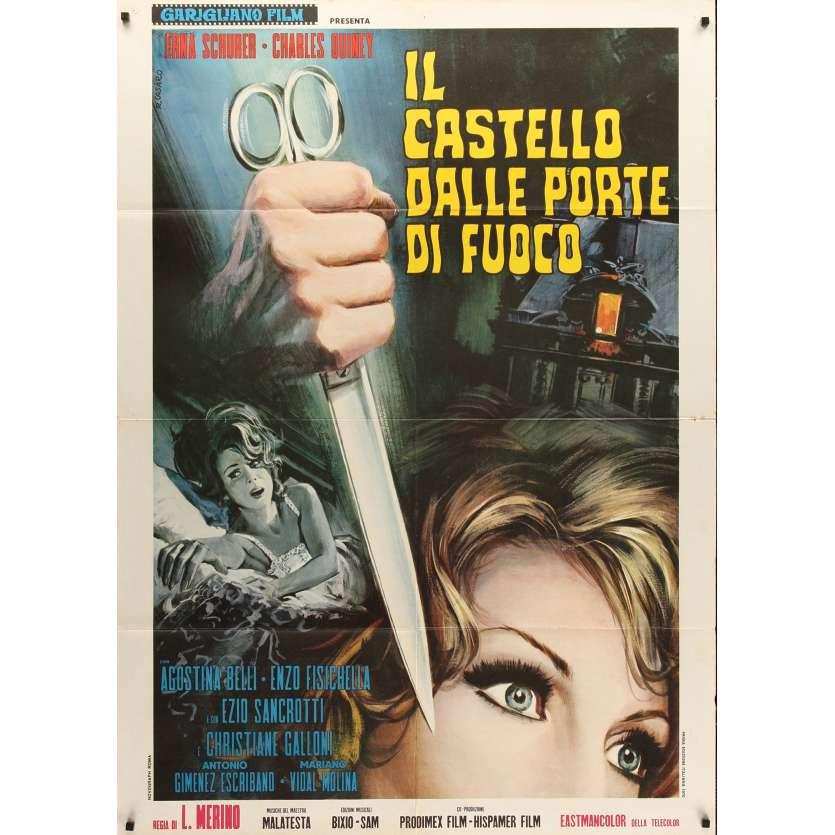 SCREAM OF THE DEMON LOVER Italian 1p '70 Roger Corman, diffferent horror art by Casaro!