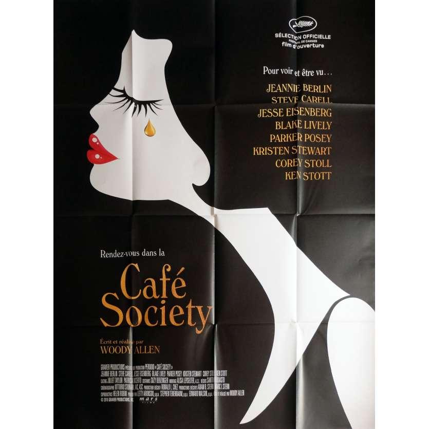 CAFE SOCIETY Movie Poster 47x63 in. - 2016 - Woody Allen, Kristen Stewart