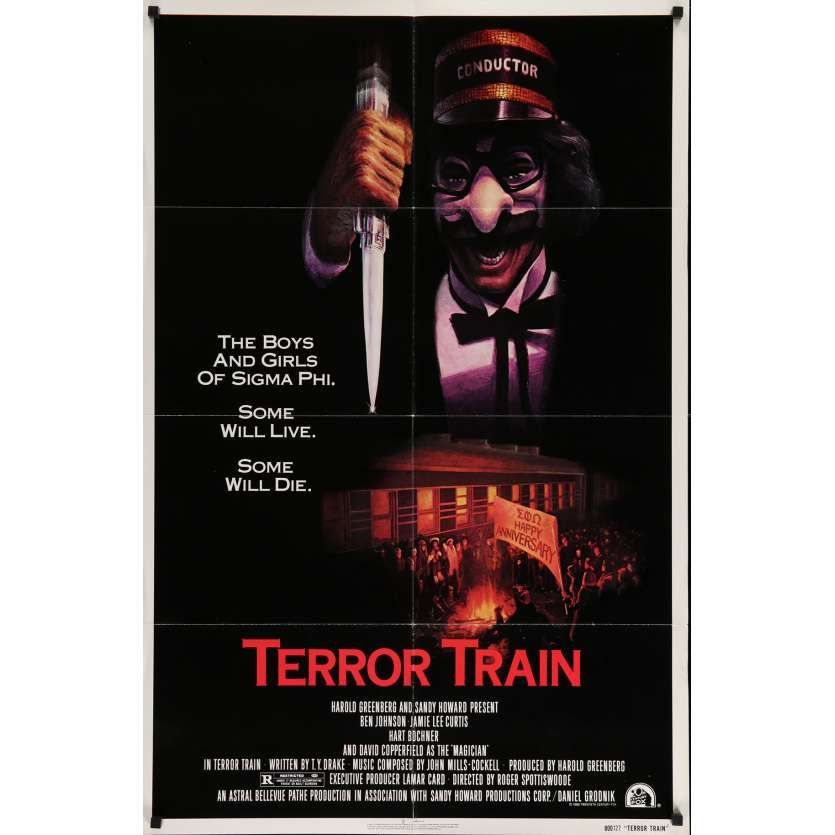 TERROR TRAIN Movie Poster 29x40 in. - 1980 - Roger Spottiswoode, Jamie Lee Curtis