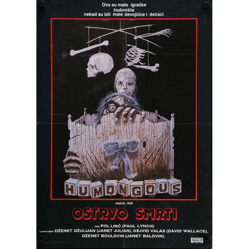LA MALEDICTION DE L'ILE AUX CHIENS Affiche de film 50x70 cm - 1982 - Janet Julian, Paul Lynch