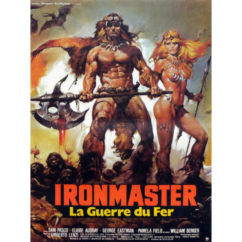 "IRONMASTER French ""petite"" Movie Poster 40x60 cm '84 Italian Mad Max"