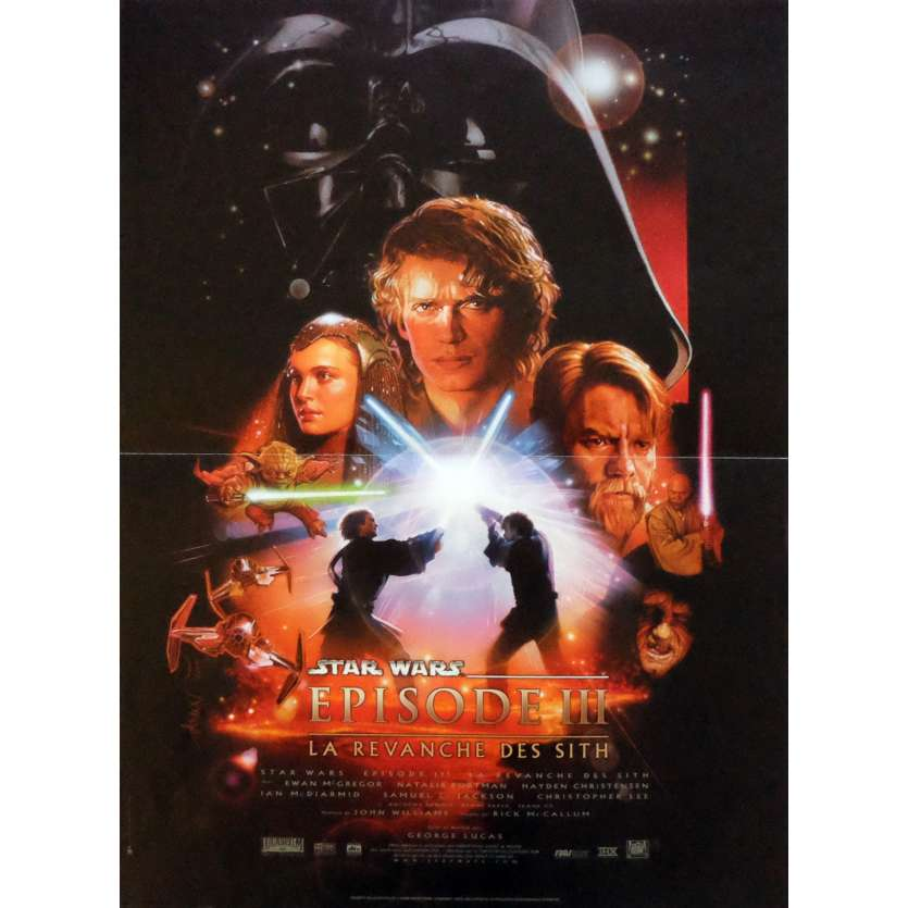 STAR WARS - REVENGE OF THE SITHS French Movie Poster 15x21 - 2003 - George Lucas, Harrison Ford