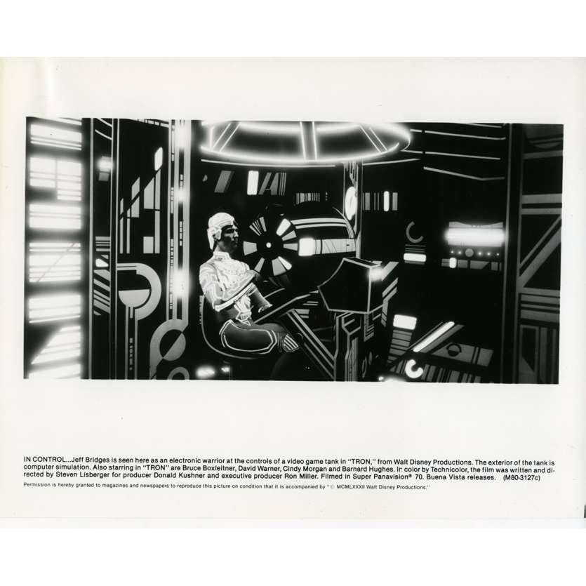 TRON Photo de presse N08 20x25 cm - 1982 - Jeff Bridges, Steven Lisberger
