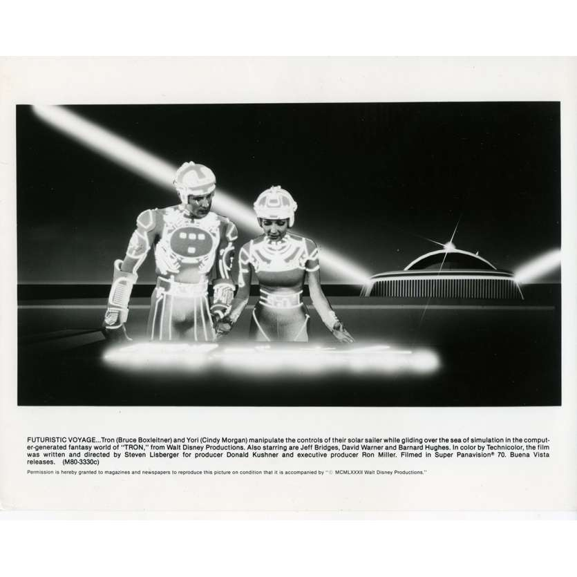 TRON Photo de presse N02 20x25 cm - 1982 - Jeff Bridges, Steven Lisberger