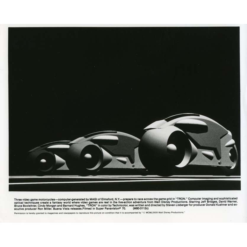 TRON Movie Still N01 8x10 in. - 1982 - Steven Lisberger, Jeff Bridges