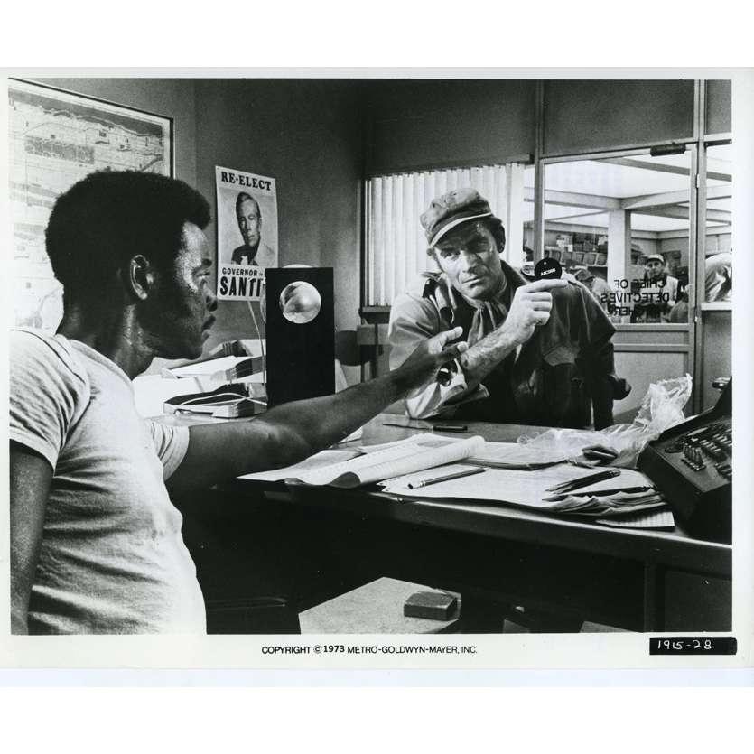 SOLEIL VERT Photo de presse N17 20x25 cm - 1973 - Charlton Heston, Richard Fleisher