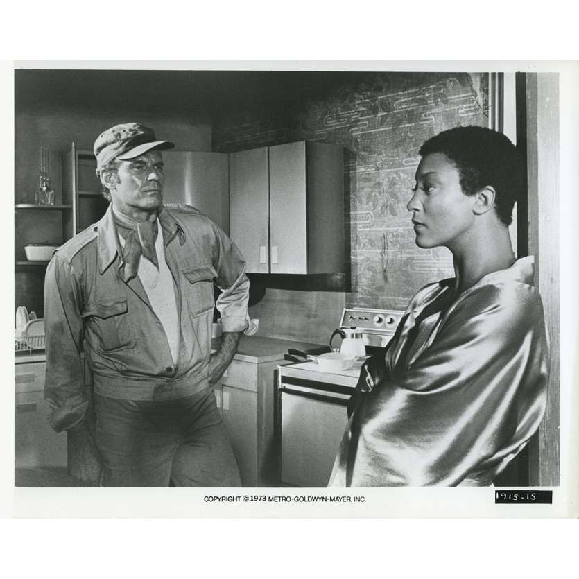 SOLEIL VERT Photo de presse N12 20x25 cm - 1973 - Charlton Heston, Richard Fleisher