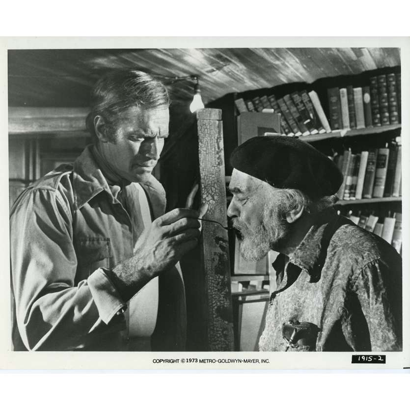 SOLEIL VERT Photo de presse N03 20x25 cm - 1973 - Charlton Heston, Richard Fleisher