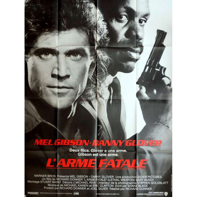 L'ARME FATALE Affiche de film 120x160 - 1987 - Mel Gibson, Richard Donner
