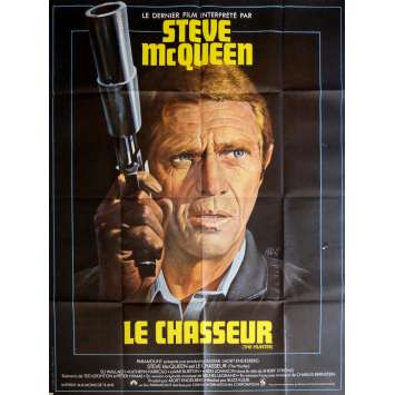 THE HUNTER Movie Poster 47x63 in. - 1980 - Buzz Kulik, Steve McQueen