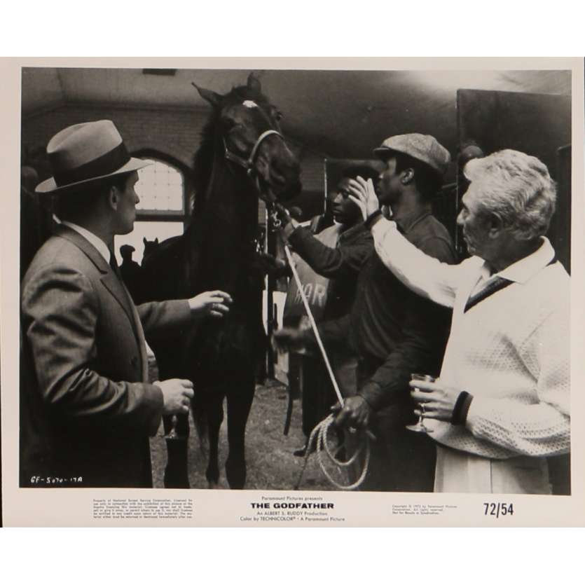 LE PARRAIN Photo de presse N8 20x25 cm - 1972 - Marlon Brando, Francis Ford Coppola