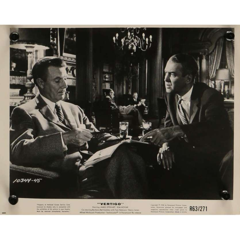 VERTIGO Movie Still N4 8x10 in. - R1963 - Alfred Hitchcock, James Stewart